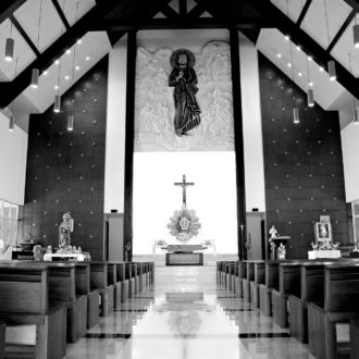 Church Inside Bw
